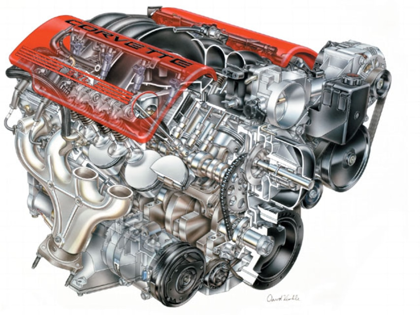Chevrolet Corvette LS6 Small Block Engine - Chevy
