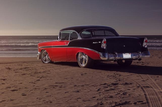 001 1956 Chevrolet Tri Five Red