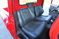 1955 Chevrolet 3100 Interior Black Leather Teas Design Bucket Seats