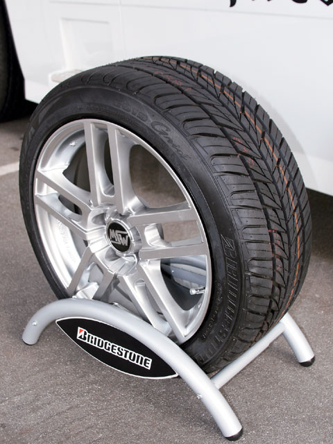 0811chp_02_z 1984_chevy_camaro_z28_big_brake_kits Bridgestone_tire_with_custom_wheel