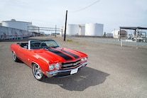 1970 Chevrolet Chevelle Ss Convertible Red Black Stripes 001