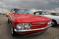 Super Chevy Show Tucson SWIR Corvair Red