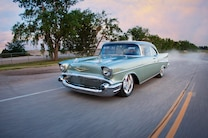 1957 Chevrolet Bel Air Marvin Meyer Front Quarter Driving