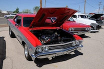 MSD Car Show 2015 Chevelle Red Silver Big Block