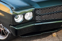 1971 Chevrolet Chevelle Green Pearl Headlights Grille
