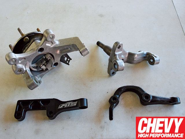 0901chp_03_z 1971_chevy_chevelle_bmr_fabrications_level_4_brake_and_suspension_package_upgrade Aluminum_spindles