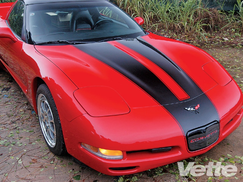Custom Corvette Hood Stripe - Late-Model Corvette Graphic