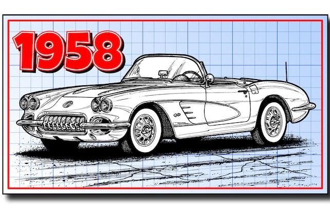 1958 Chevrolet Corvette C1 Front Side