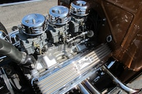 Pol Open House Car Show Cruise 2015 Chevy Six Pack Three Two Barrel Carbs 43