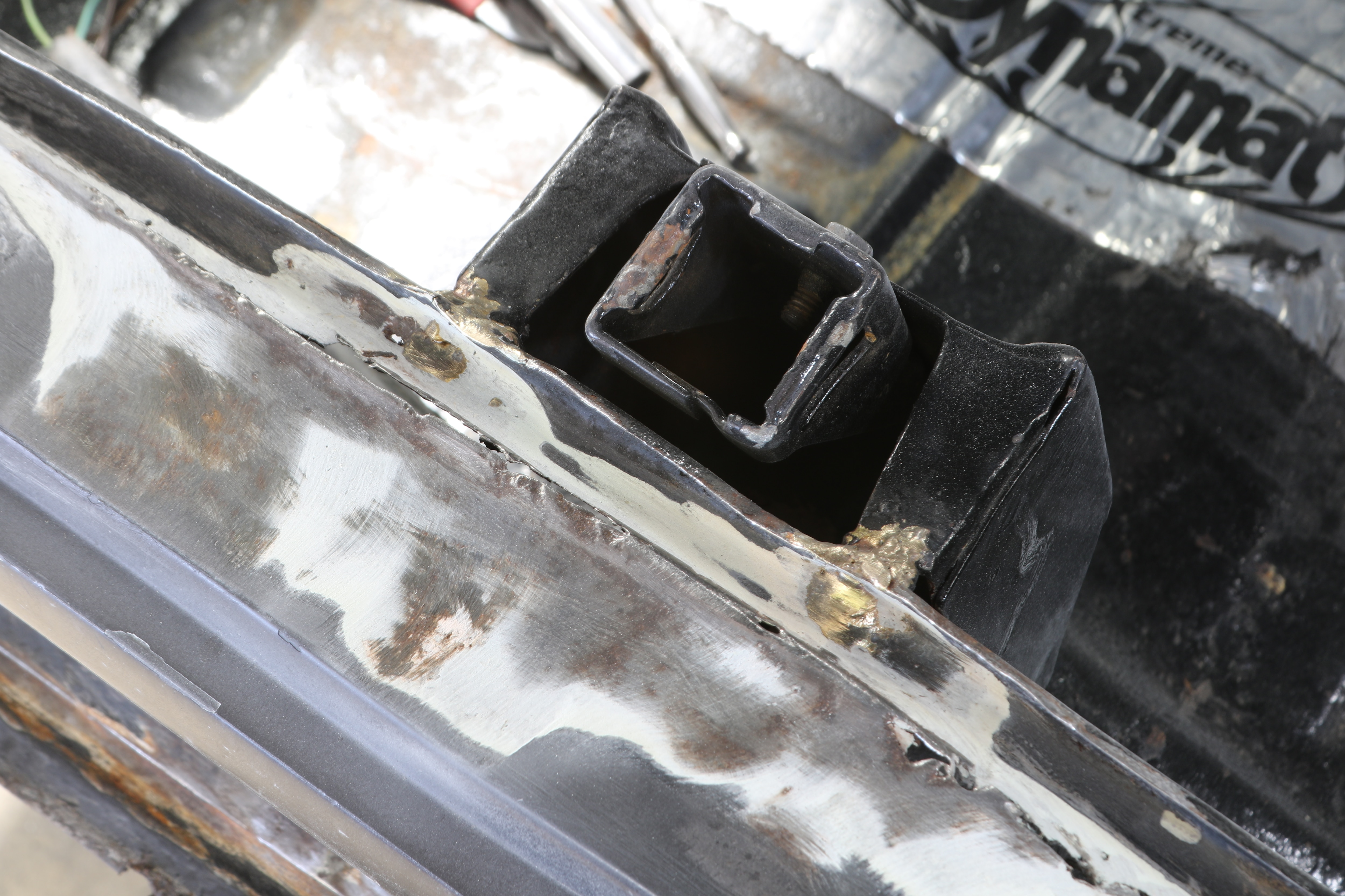 1969 Nova Trunk Catch Bracket