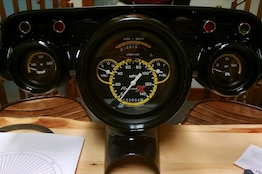 The World's Most Famous '57 Chevy Get's Custom Gauges From Classic Instruments