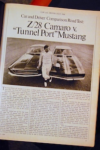 1969 Chevrolet Camaro Z28 Car And Driver Article