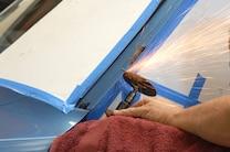 A Pillar Rust Repair Cutting Wheel