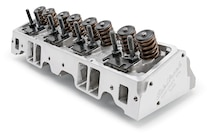 20 Edelbrock Small Block Chevy Performer RPM Head 60895 Angled