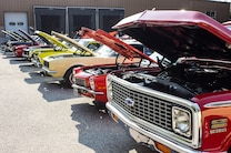 Ground Up Show Row Of Chevrolets