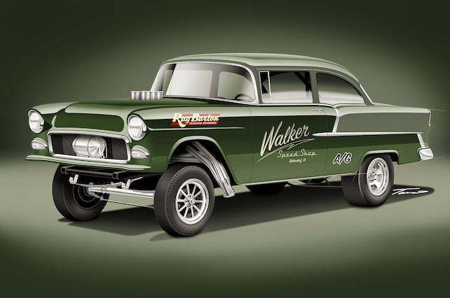 1955 Chevy Gasser Drawing
