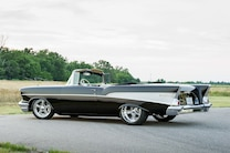 1957 Chevy Bel Air Convertible Rear Side View