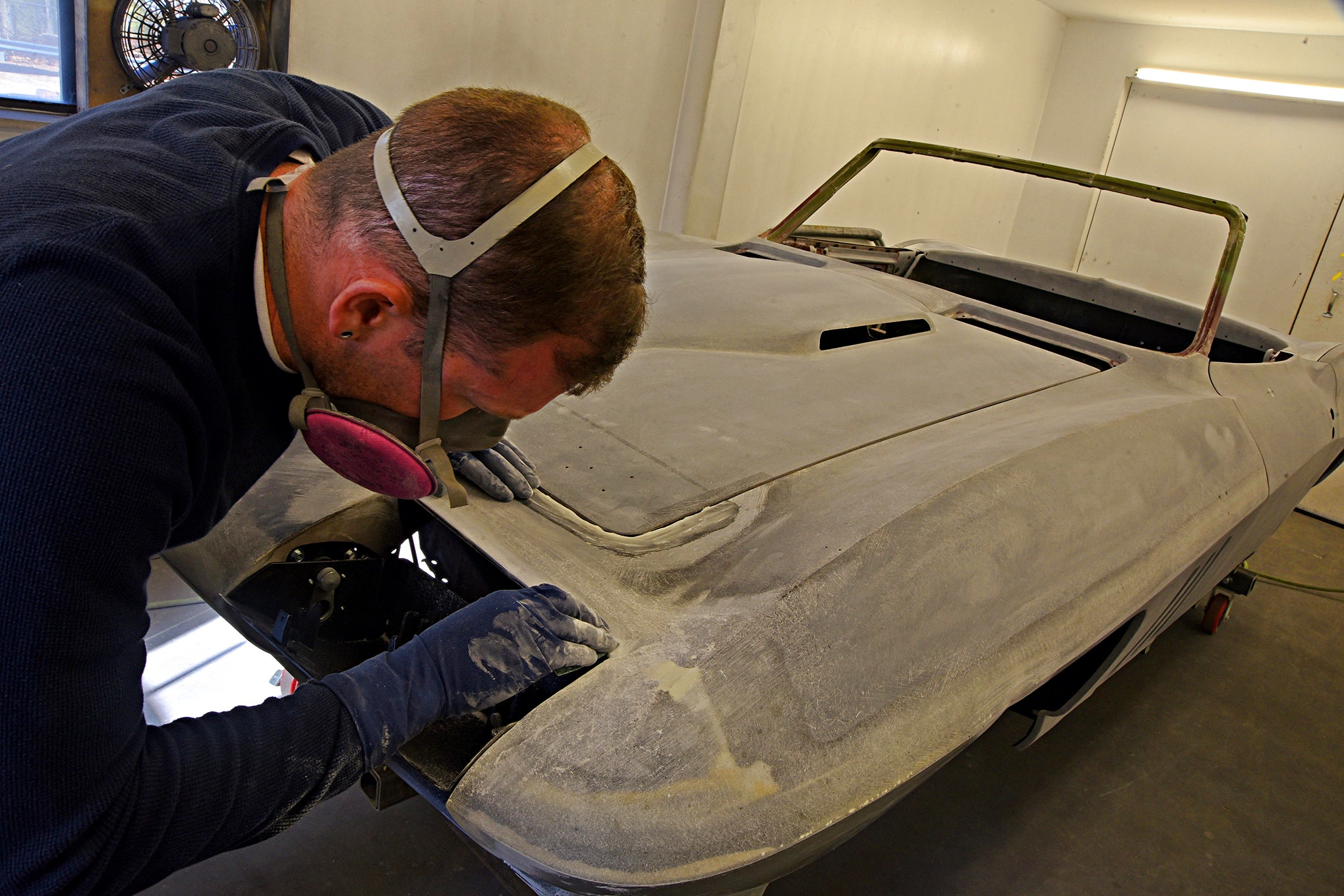Removing and Repairing Oil Contamination in Corvette Fiberglass