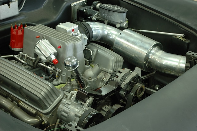 1954 Corvette Engine Compartment