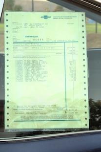 007 Halluska 1966 Chevrolet Impala Ss Window Sticker