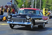 1955 Chevy Bel Air Drag Car Front Quarter View
