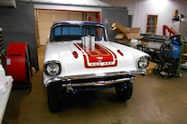 Woodys Gasser Chevy 1957 Paint New Frame Red White Blue Hilborn Vintage 017