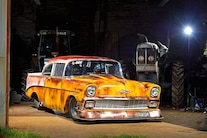 1956 Chevy Faux Patina Drag Car Front