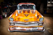 1956 Chevy Faux Patina Drag Car 064