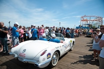 2015 Great Race Corvette White 1959 Top Down Pier Finish