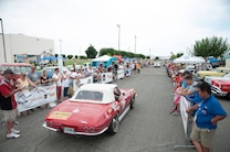 2015 Great Race Corvette Crowds Red Convertible White Top