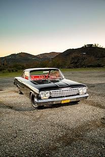 1962 Impala Bel Air Chevrolet Black Red 033