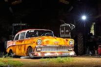 1956 Chevy Faux Patina Drag Car Front Quarter