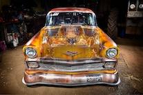 1956 Chevy Faux Patina Drag Car 036