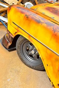 1956 Chevy Faux Patina Drag Car 035