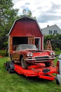 1962 Corvette Fuel Injected Barn Find 032