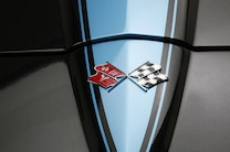1967 Chevrolet Corvette Black Blue 04 Hood Flags