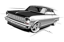 003 1963 Nova TEN Pro Touring B8 Schwartz Chassis Holley Eddie Motorsports Falken American Legend Church Boys