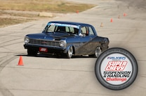 1965 Nova Speedway Motors Unser Super Chevy Suspension Challenge Falken Slalom Logo