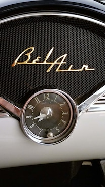 11 1956 Chevy Bel Air Hard Top Custom Cervantes Dash Clock