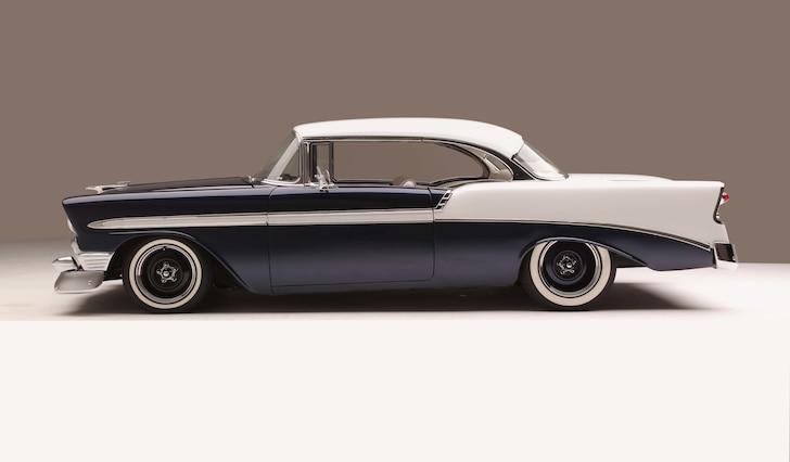 01 1956 Chevy Bel Air Hard Top Custom Cervantes Left Profile