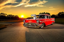 049 1957 Chevy Bel Air Pro Street Red Blown Injected