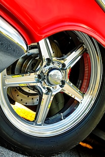 047 1957 Chevy Bel Air Pro Street Red Blown Injected