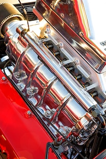 041 1957 Chevy Bel Air Pro Street Red Blown Injected