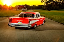 039 1957 Chevy Bel Air Pro Street Red Blown Injected