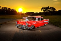 038 1957 Chevy Bel Air Pro Street Red Blown Injected