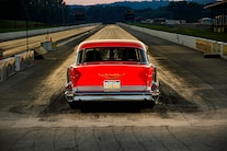 004 1957 Chevy Bel Air Pro Street Red Blown Injected