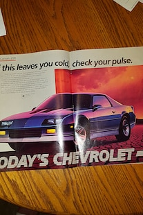 013 1985 Chevrolet Camaro Advertisement