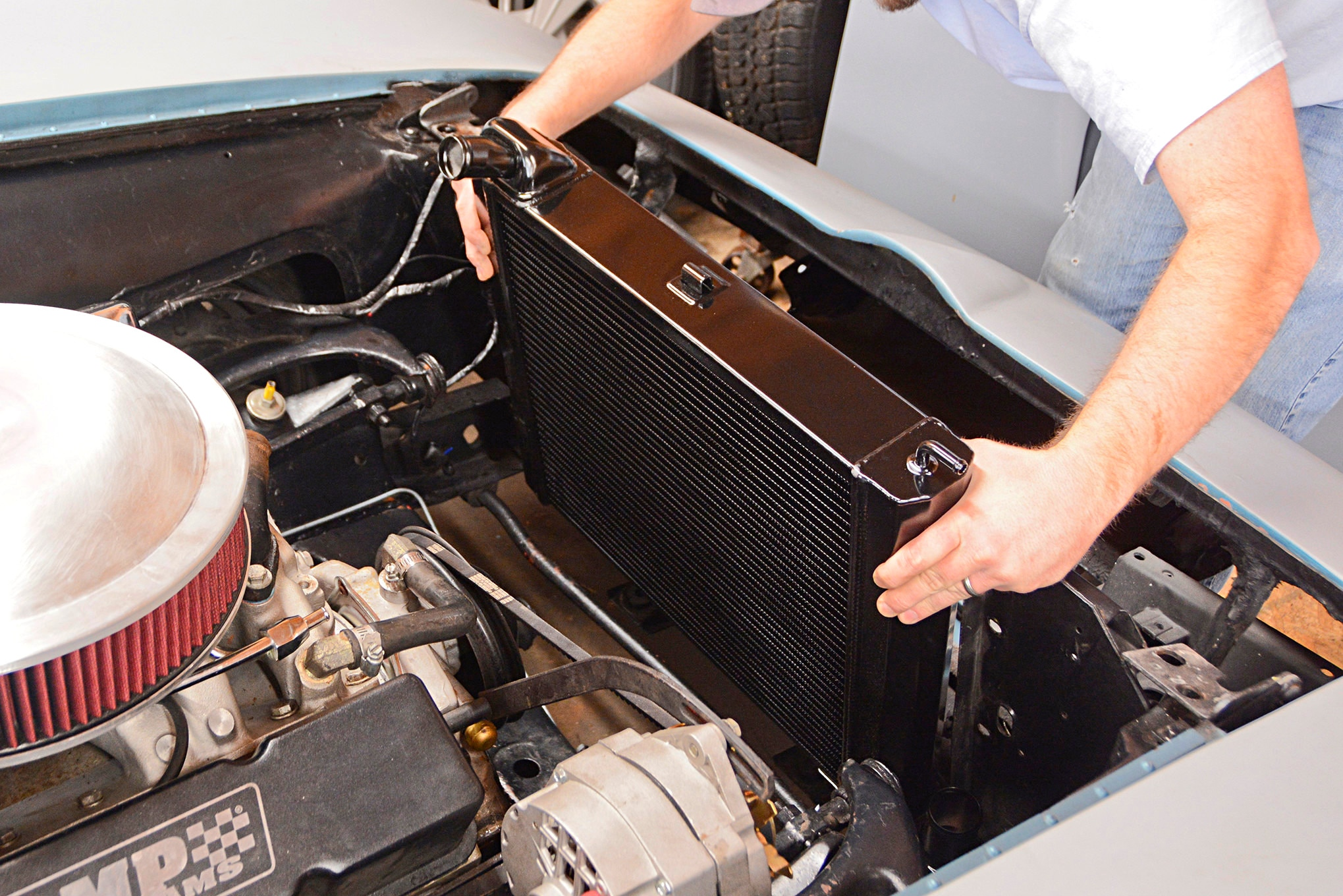 c2 corvette gets a complete cooling system overhaul  dewitt radiators corvette electric fan wiring diagram #4