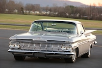 014 1959 Impala Chevrolet Silver 348 409 Injection