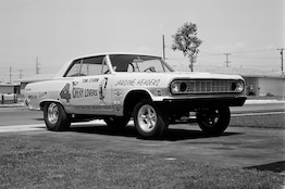 The Archives: 1964 Malibu drag racer with new-for-1965 Mark IV 396 BBC